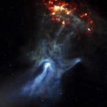 """Supernova, som kallas """"Guds hand"""""""
