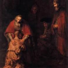 """Rembrandt """"Den förlorade sonen""""."""