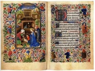 Ett vackert medeltida illuminerat manuskript.