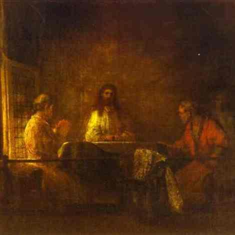 Rembrandt. Emmaus