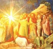 Giotto. Jesus uppväcker Lasarus